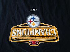 Pittsburgh Steelers 2002 AFC North Champions T-Shirt, Size XL