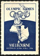 Olympic Games Melbourne Poster Stamp (1956) Mnh*