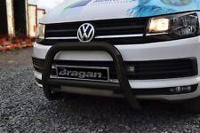 Per adattarsi 10-15 VW Volkswagen Transporter T5 bull bar di un bar Approvato CE UE-Nero