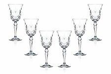 Melodia Wine Stemmed Wine Glasses 7.25 Oz, Crystal Cut Glassware Set of (6)