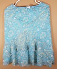 Wrapper blue Floral Skirt, Size: Small ,womens