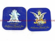 Set of 2 Anheuser Busch A and Eagle Coasters USED Tavern Trove