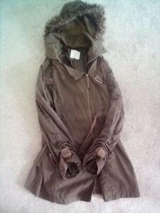 Jasper Conran Womens Coat( Size 12) Large For A 12. Detachable Hood.