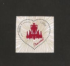 2014 - Coeur de Baccarat n° 4883 poudre de cristal issu du Bloc NEUF** LUXE MNH