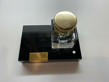 GORGEOUS MONTBLANC MONT BLANC LEAD CHRYSTAL INKWELL  FREE SHIPPING