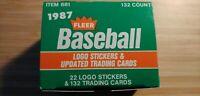 1987 Fleer Baseball Update Set MCGWIRE RC/MADDUX RC 132 Card Set+ Stickers HOF??