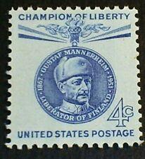 U.S. Scott 1165- Baron Gustaf Mannerheim, Finland- MNH OG F-VF 4c 1960