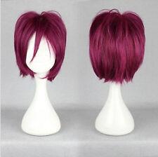 2018 New Free Rin Matsuoka color mixed 30cm Short Cosplay Wig +cap