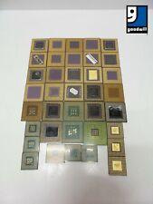 Lot of 37 Mixed AMD Intel Ceramic/Pin CPU's ~ FOR GOLD SCRAP!!! ~