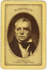 Playing Cards 1 Swap Card - Old Vintage WAVERLEY Cigarettes SIR WALTER SCOTT