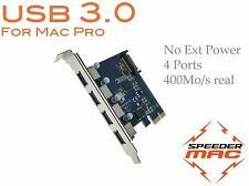  USB 3.0 Carte PCIe  4 ports pour Mac Pro 1.1 à 5.1 ( 2006 to 2012 )