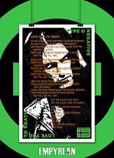 Type O Negative LOVE YOU TO DEATH Peter Steele Song Lyric Poster Original 11x17
