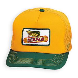 DEKALB SEED Green & Yellow Vintage Trademark Logo Cap Hat New Ballcap Corn