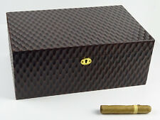 Humidor Angelo Waben braun ca 80 Zigarren Hygrometer Polymere-Befeuchter