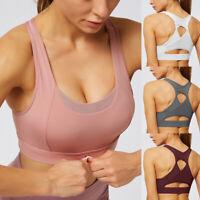 Damen Push up Sport BH Bra Unterwäsche Slim Fit Fitness Yoga Bustier Tops L/P