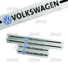 4Pcs Volkswagen C.Fiber Car Door Welcome Plate Sill Scuff Cover Decal Sticker