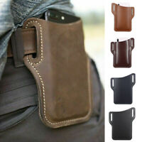 Men Cellphone Loop Holster Case Belt Waist Bag Props Phone Wallet Leather Purse