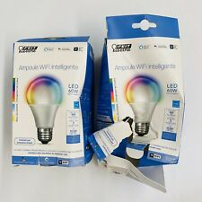 2-Pack FEIT Electric Smart WiFi LED Color Changing & Dimmable A19 60W Bulb 800 L