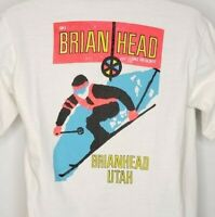 Brian Head Ski Resort T Shirt Vintage 90s Utah Winter Sports Made In USA Large