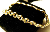 LOVELY VINTAGE SIGNED 14K ITALY WIDE BRIDLE BIT LINK SOLID YELLOW GOLD BRACELET