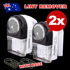 2x Portable Electric Lint Remover Pilling Fluff Clothes Shaver with Accessories