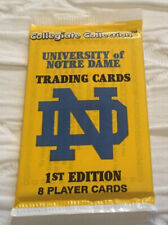 Collegiate Collection University Of Notre Dame Rare Sealed Pack 8 Trading Cards
