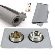 Pet Puppy Cat Silicone Waterproof Feeding Food Mat Dog Cat Placemat Easy Washing