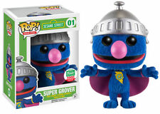 FUNKO POP Sesame Street Super Grover 01 FlockeD Exclusive 5000PCS FREE SHIPPING