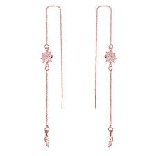 Hilo de Chakras Oro Rosa Pendientes con Cristales de Swarovski ®