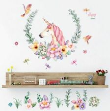 Unicorn Wall Sticker Home Girls Kids Bedroom Playroom Decoration Wall Decal