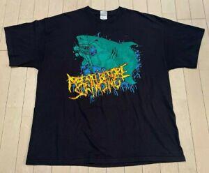 Vintage A Breath Before Surfacing Metal Great White Shark T-shirt Tee sz XL