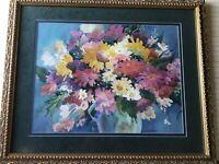 """Joan Mckasson Original Watercolor Floral, Signed, Framed, 25"""" x 20"""" (Image)"""