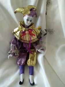 "Nostaigia Mint Clown Doll Porcelain  Moonflower  17"""