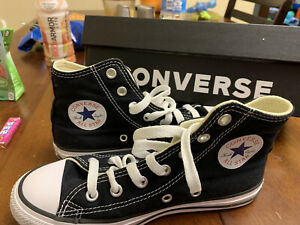 CONVERSE All-Star Chuck Taylor Black Size 2 Youth Kids High-Top Canvas Sneakers