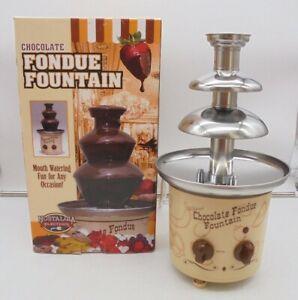 Nostalgia Electrics Chocolate Fondue Fountain in Box