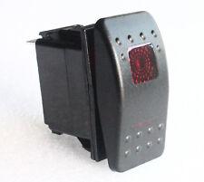Car Boat Rv's 4 Pins RED LED Momentary (ON)-off-ON Rocker Switch SPDT DC 12V 24V