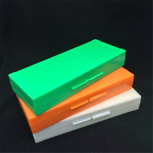 Plastic Microscope Slides Box 50pcs Pathological Slides Storage Holder Case