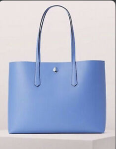 Kate Spade New York Molly Large Tote, Leather, Forget-Me-Not Blue One Size - NEW