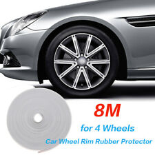 8M Car Wheel Rims Trim Rubber Protector Vehicle Tire Guard Motors Line Moulding