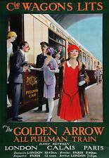 Affiche chemin de fer Cie Wagons Lits - Golden Arrow