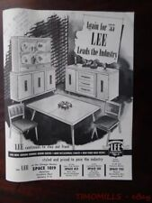 1955 Lee Furniture Mfg Co Occasional Table Catalog Brochure Mid-Century Peru IN