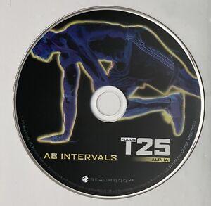 Focus T25 Beta Workout Replacement DVD AB Intervals EUC