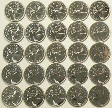 1976 to 1980 Canada 25 Cents Lot of 25 Specimen Unc #1259