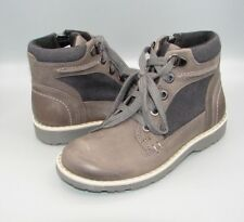 """""""DAY MUSIC INF""""Clark's Boys Grey Leather Boots size 10.5 F."""