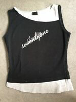 NIKE - BLACK AND GREY VEST WITH STUDIO ACROSS THE FRONT - SIZE S