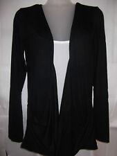 Ladies woman Long Sleeve boyfriend top cardigan vest tops 8-20