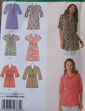 misses 6-14 TUNIC & Dress PATTERN 2 lengths 3 styles button front summer tops
