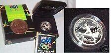 #C15.  AUSTRALIAN 1992 SILVER PROOF BARCELONA OLYMPIC DOLLAR $1 COIN