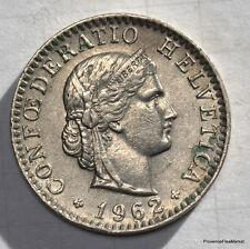 20 Rappen céntimos 1962 suiza HELVETIA Suiza ver scan alta def mo122