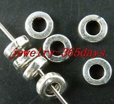 300pcs Tibetan Silver Little Ring Spacer Beads 6x2mm 842